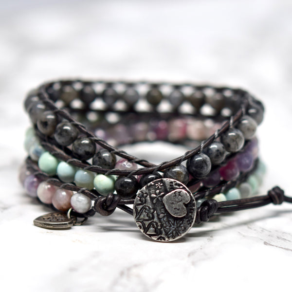 mixed wrap bracelet