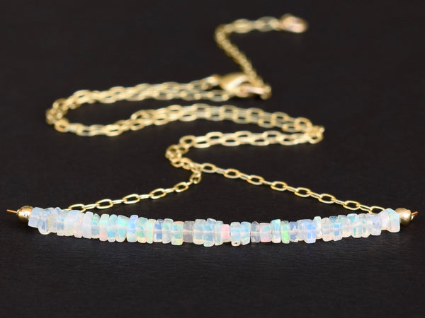 Dainty Opal & Gold Filled Necklace