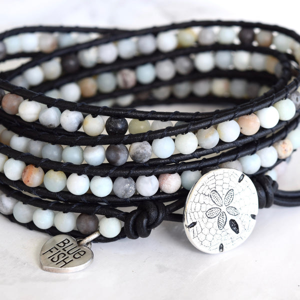 Soft Matte Amazonite Wrap Bracelet