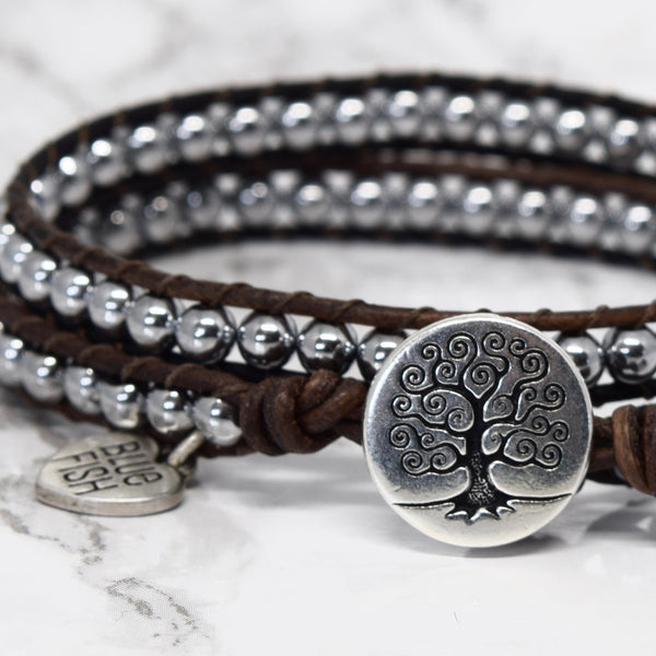 Classic and Simple Silver Wrap Bracelet