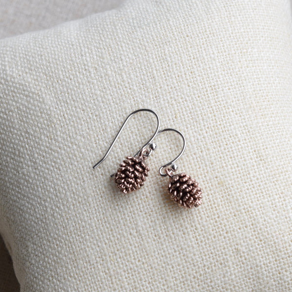 Pinecone Earrings ~ Rose Gold