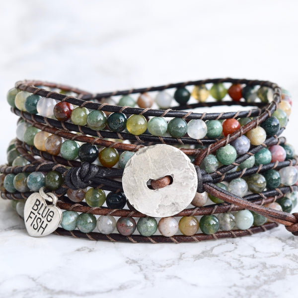 Colorful Fancy Jasper Wrap Bracelet