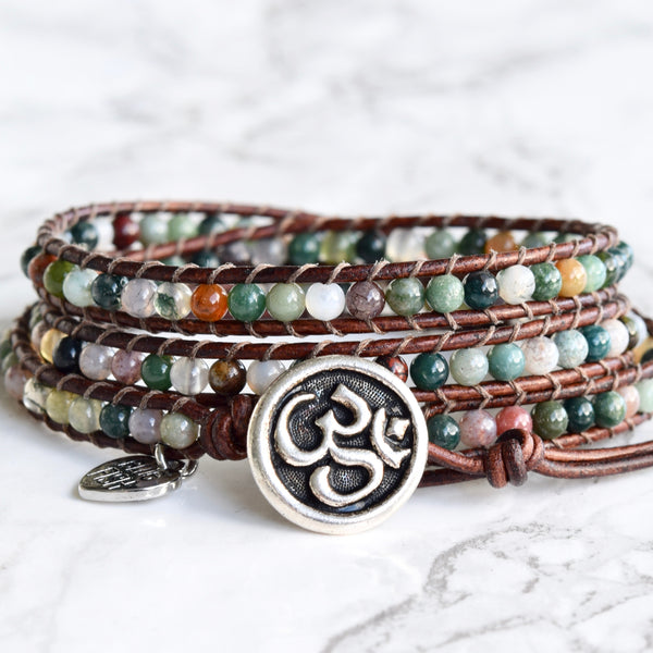 Yoga Lover's Wrap Bracelet