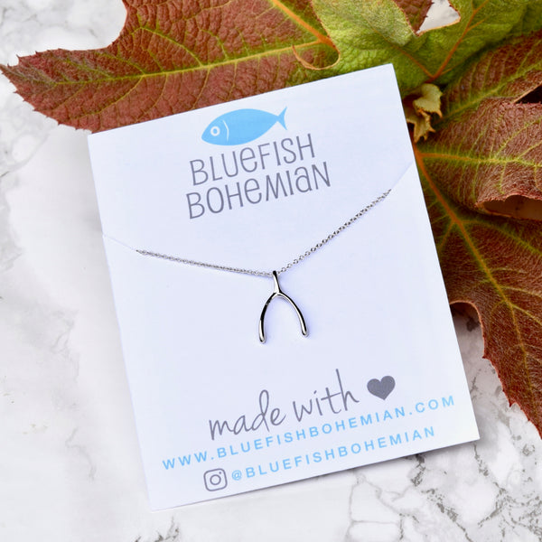 Wishbone Necklace ~ Sterling Silver
