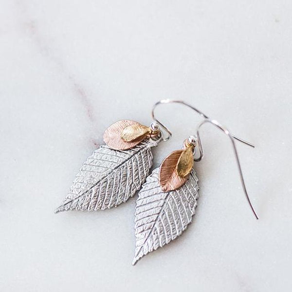 leaf leaves earrings