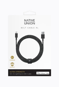 Belt Cable XL - Cosmos Black, 3M