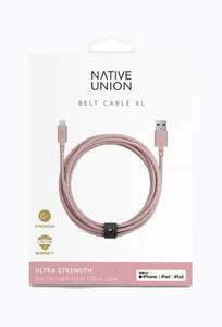 Belt Cable XL - Rose, 3M