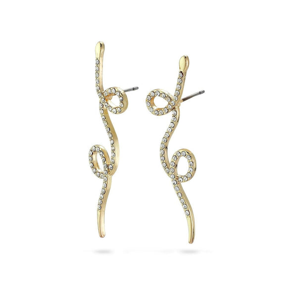 Ebba Crystal gold earrings