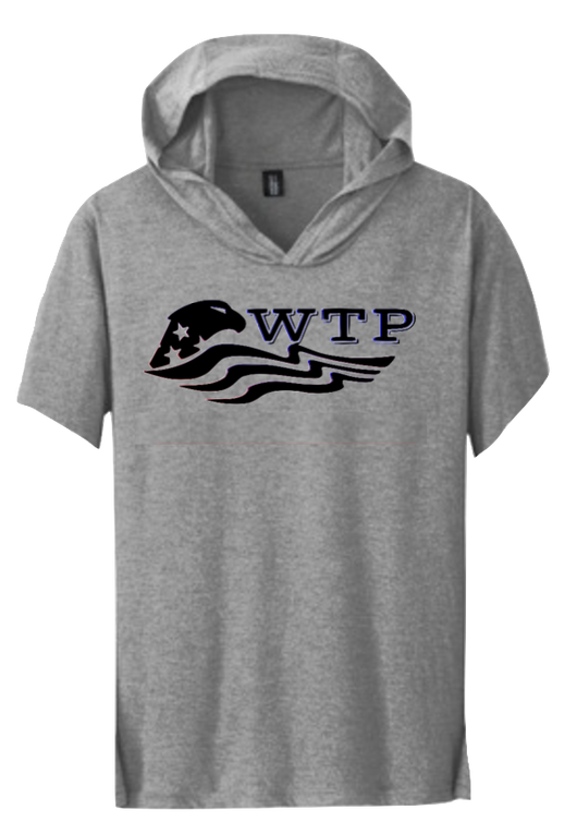 Short Sleeve hoodie (white, black, both logo) - WTPsports