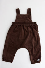 Unisex Crossover Corduroy Dungaree – Coffee