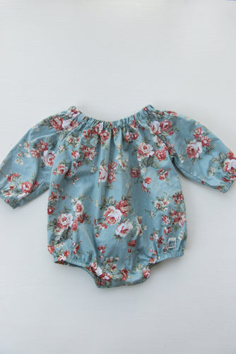Cotton Long Sleeve Romper – English Garden