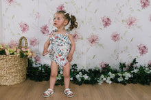 Frilly Tied Playsuit - Floral
