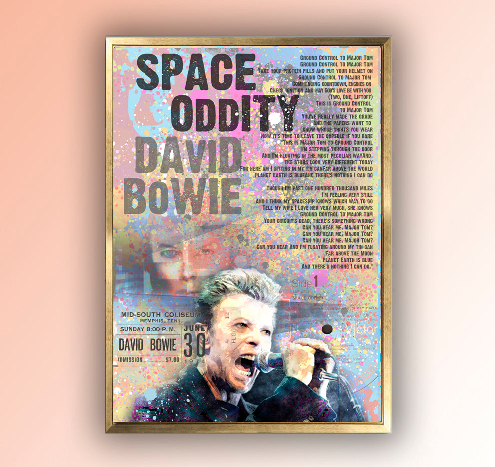 David Bowie Space Oddity Lyrics - YouTube