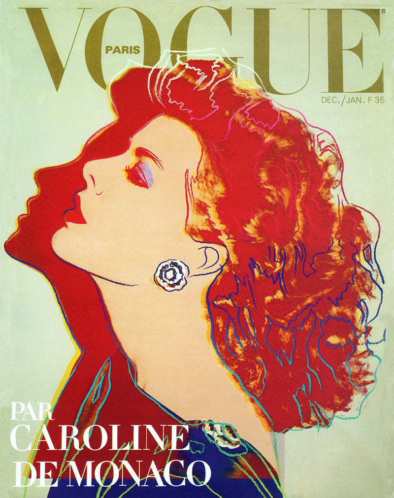Andy Warhol, Vogue cover featuring Caroline, Princess of Hanover, December/January 1984 issue.