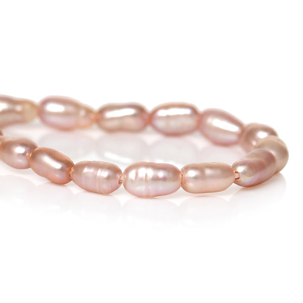 1 Strand Natural Freshwater Cultured Pearl in Pink