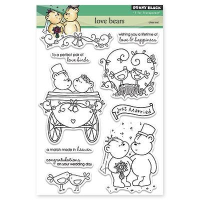 CLEARANCE!!! - Penny Black Love Bears Acrylic Stamp