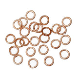 "100pcs Iron Based Alloy Open Jump Ring Findings Rose Gold 5mm( 2/8"")"