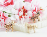 14x17mm 14k Gold plated ethnic pattern horse pendant charm