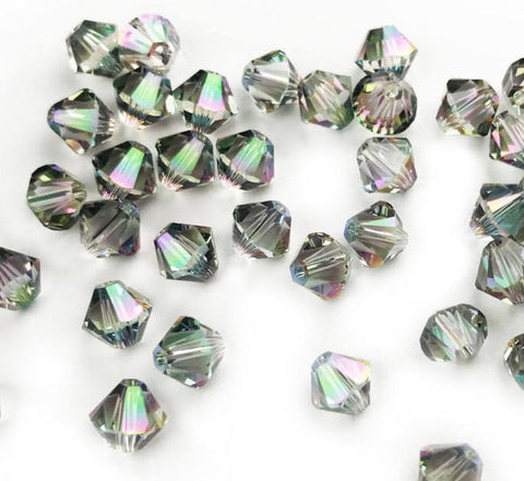 50 Pcs, Genuine Swarovski® 5328 6mm XILION Bead in Vitrail Medium(VM)