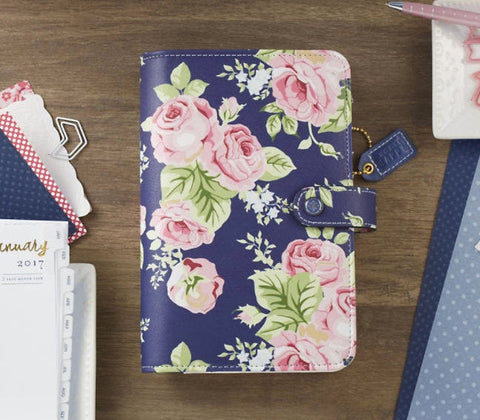 CLEARANCE!!! - Webster Pages Personal Planner Navy Floral Kit
