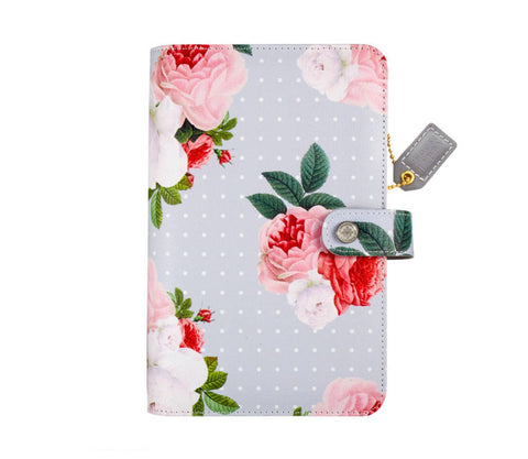 CLEARANCE!!!  - Webster Pages Personal Planner Grey Floral Kit