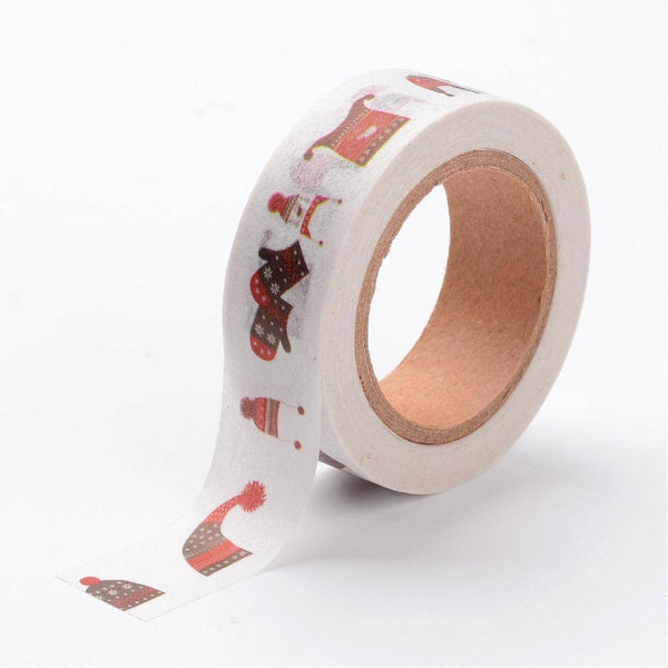 1 Roll (50m/roll), 15mm, Christmas Sweater Design Decorative Adhesive Tape
