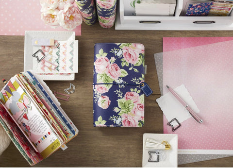 CLEARANCE!!! - Webster Pages Traveler Notebook Navy Floral Kit