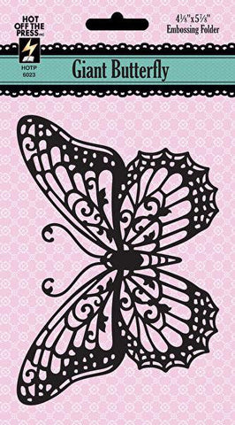 CLEARANCE!!! - Hot Off The Press Giant Butterfly Embossing Folder