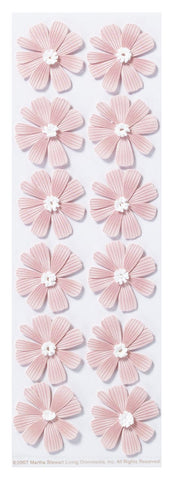 CLEARANCE!!! - Martha Stewart Pink Dimensional Cosmos Stickers