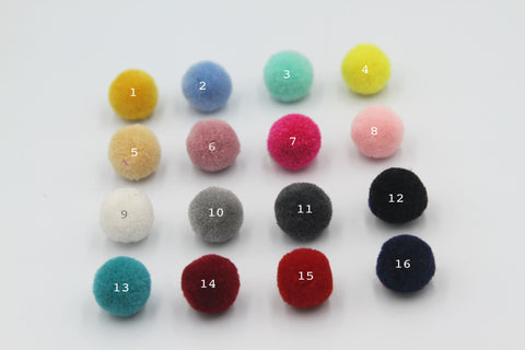 5pcs, 20mm waxberry Pompom Fur Ball Plush Ball - Choose your colour