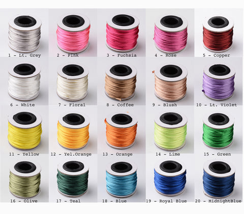 10 meters, 2mm Nylon Thread Cords II  - Choose your colour