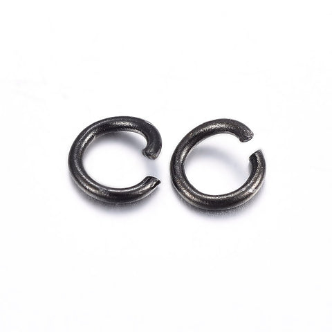 20pcs, 6x1mm, 304 Stainless Steel Open Jump Rings in Gunmetal