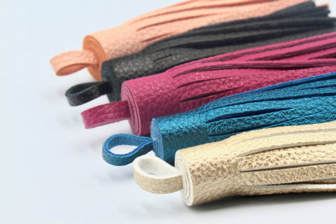1pc, 100mm Pu Leather Tassel /tassel - Choose Your Colour