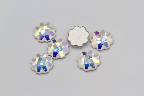 1/5/10pcs,  6mm, Genuine Swarovski 2612 Jelly Fish Flatback Cabochon In Crystal