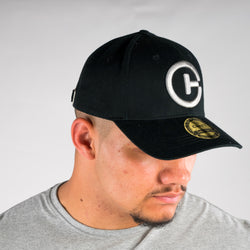 BASEBALL CAP BLACK AND SILVER