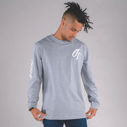 ICONIC LONG SLEEVE TAIL TEE GREY