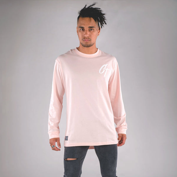 ICONIC LONG SLEEVE TAIL TEE PINK