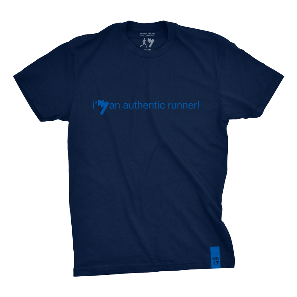 """I'm an authentic runner"" Men's t-shirt"