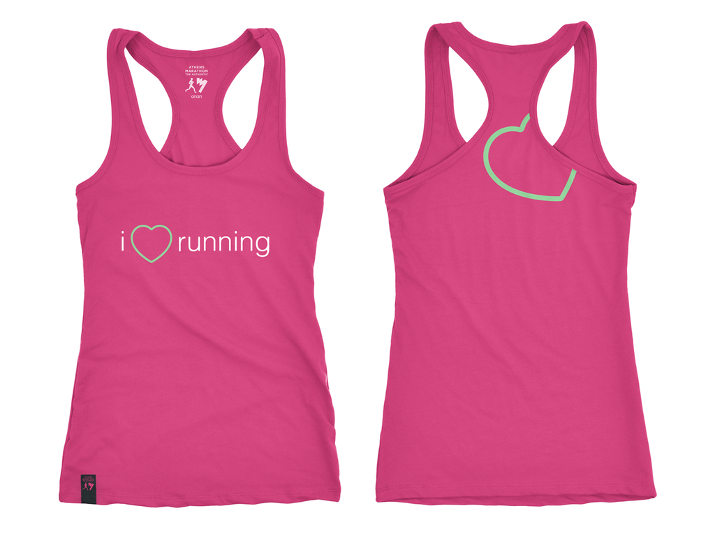 'I LOVE RUNNING' WOMEN'S TANK TOP
