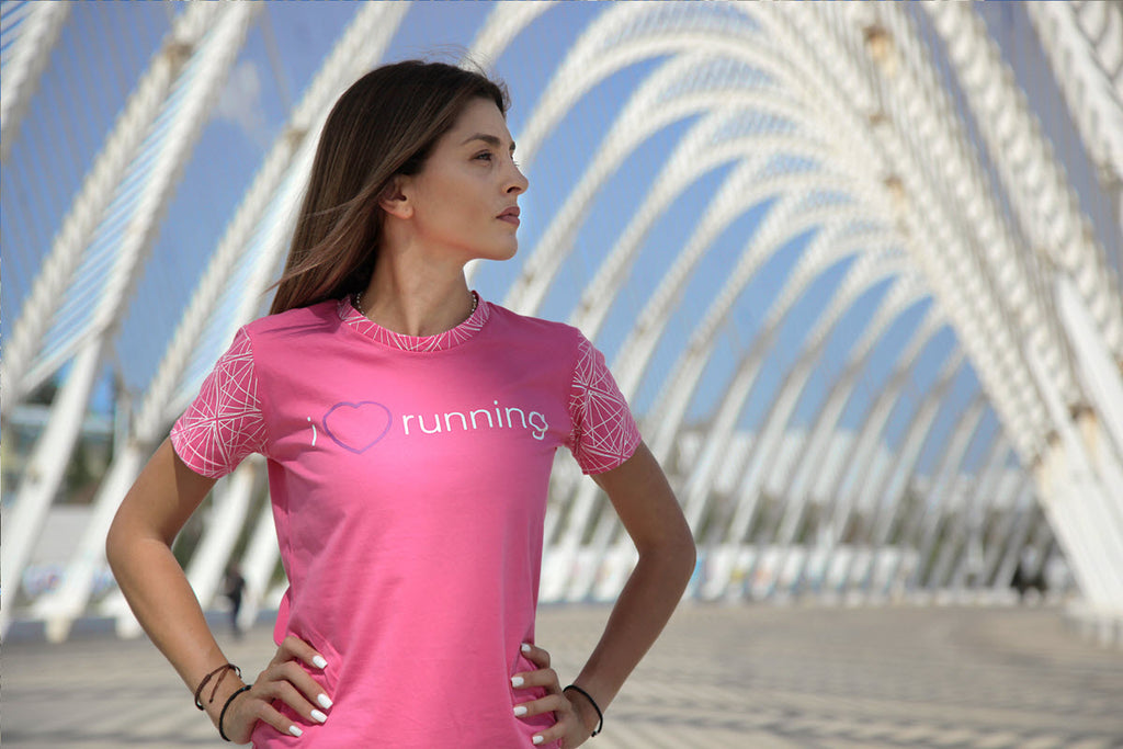 """I LOVE RUNNING"" WOMEN'S T-SHIRT"