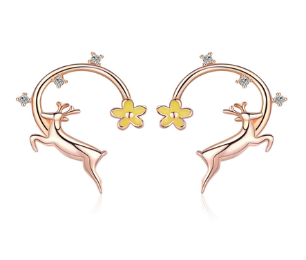 Moonstar Deer Earrings (SBSE014)