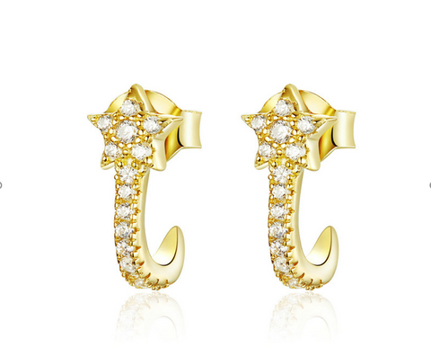 Star stud earrings (SBSE177-SS)