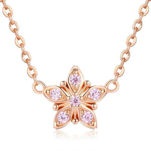 Diamond Daisy Necklace (SBSN032)