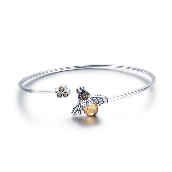 The Honey and Bee Cuff Open Bangle (sbB104)