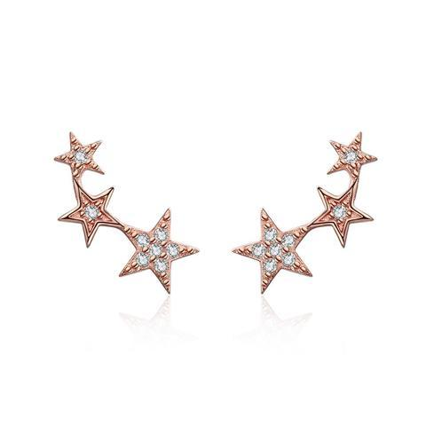 Starry Rose Gold Splash Earrings (sbE291)