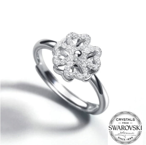 Swarovski Leaf Clover Adjustable Ring (T644)