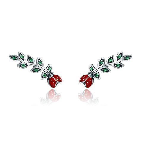 Rose Stem Elegance Earrings  (sbE314)