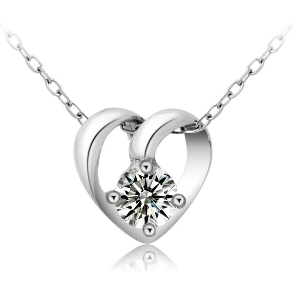 Diamond Inside My Heart Necklace (T89-SS)