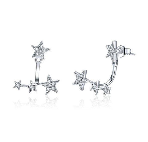 Sparkling star earrings (SBE439)