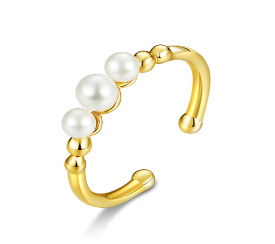 Pearl white adjustable ring (SBSR058)